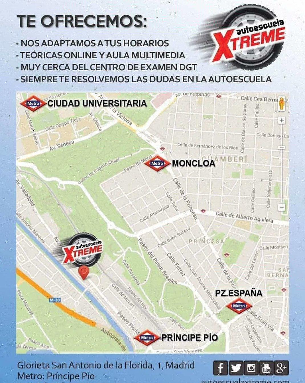 Autoescuela en Madrid centro. Autoescuela aérea en Madrid centro