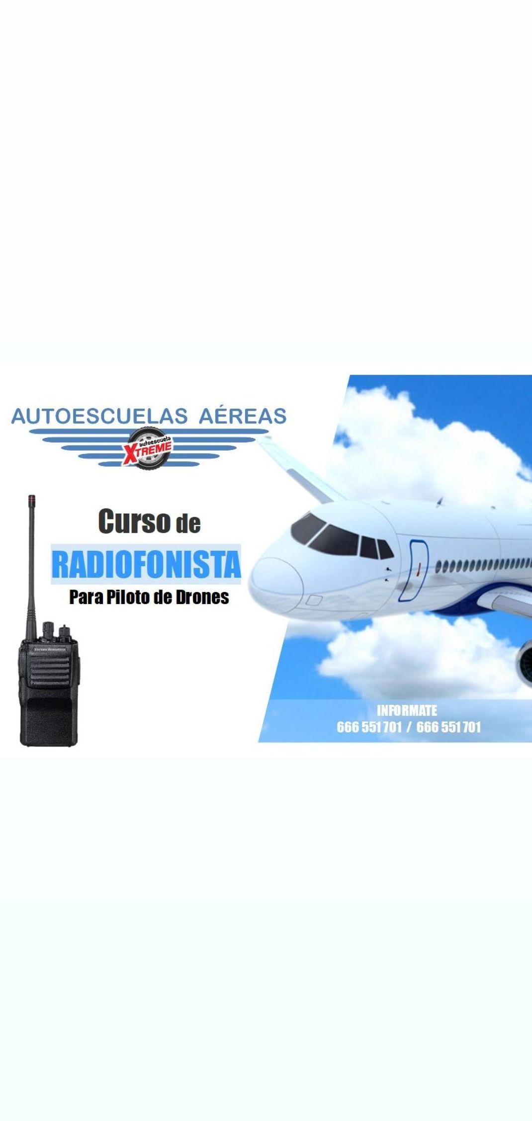Curso de Radiofonista para piloto de drones en Madrid centro