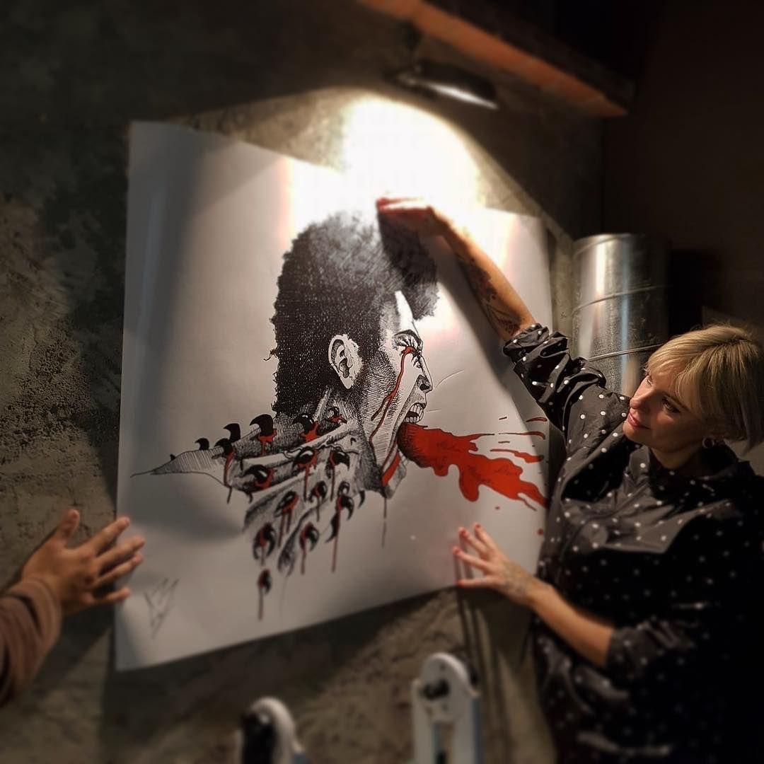 Restaurante vegano con arte