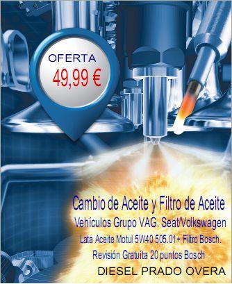 Cambio de Aceite Motul y Filtro de Aceite Bosch + Revisión 20 puntos Bosch: Productos de Diesel Prado Overa