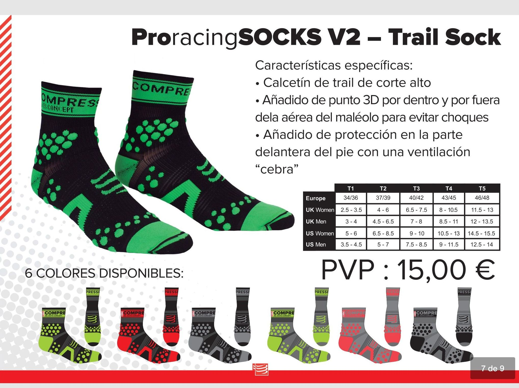 Pro racing Socks V2 Trail Sock: TIENDA ONLINE de Ortopedia La Fama