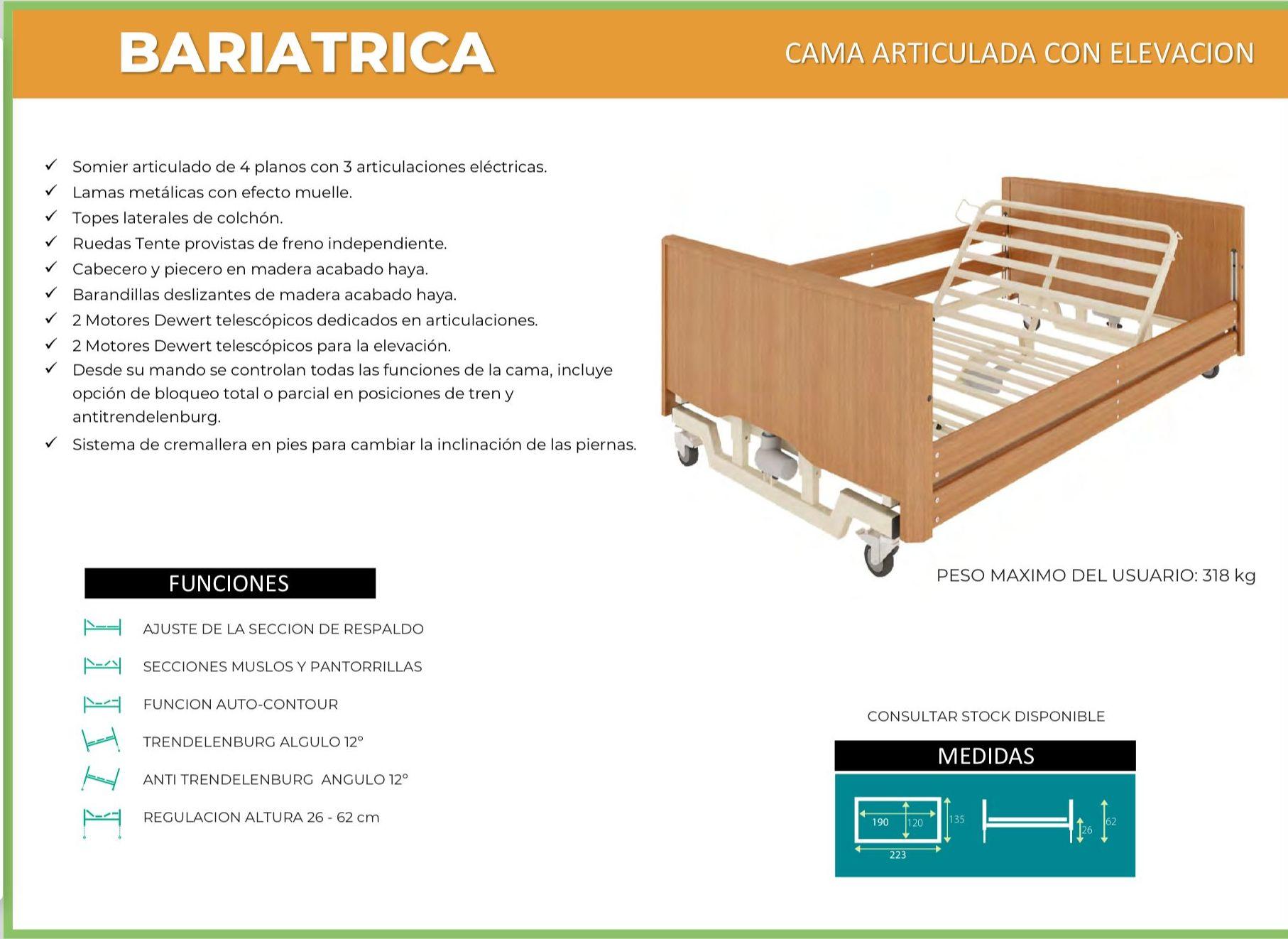 Cama Articulada Bariatrica: TIENDA ONLINE de Ortopedia La Fama