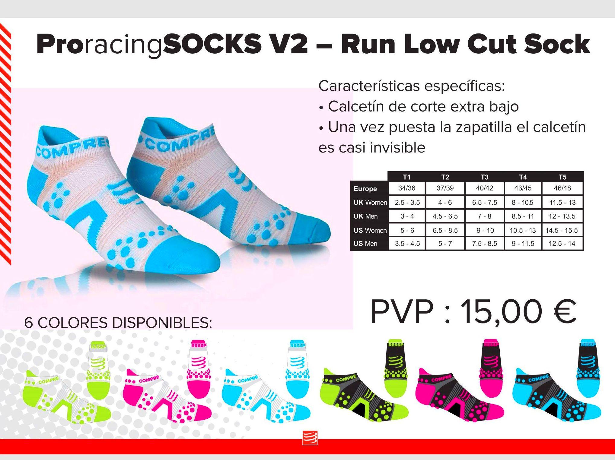 Calcetín tecnico pro racing socks v2 -run low Cut sock: TIENDA ONLINE de Ortopedia La Fama