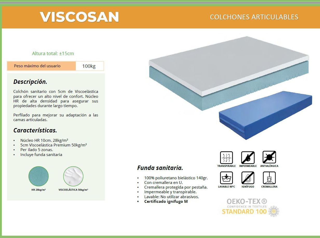 Colchon Viscosan: TIENDA ONLINE de Ortopedia La Fama