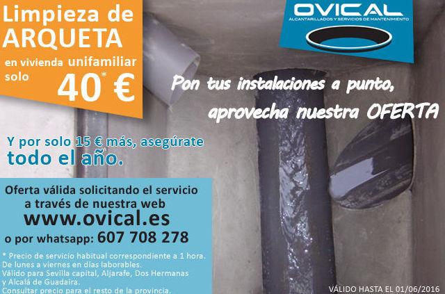 promocion limpieza de arqueta Sevilla