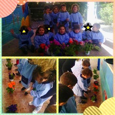 Escuela infantil pequeñajos Valdemoro. Pequeños jardineros