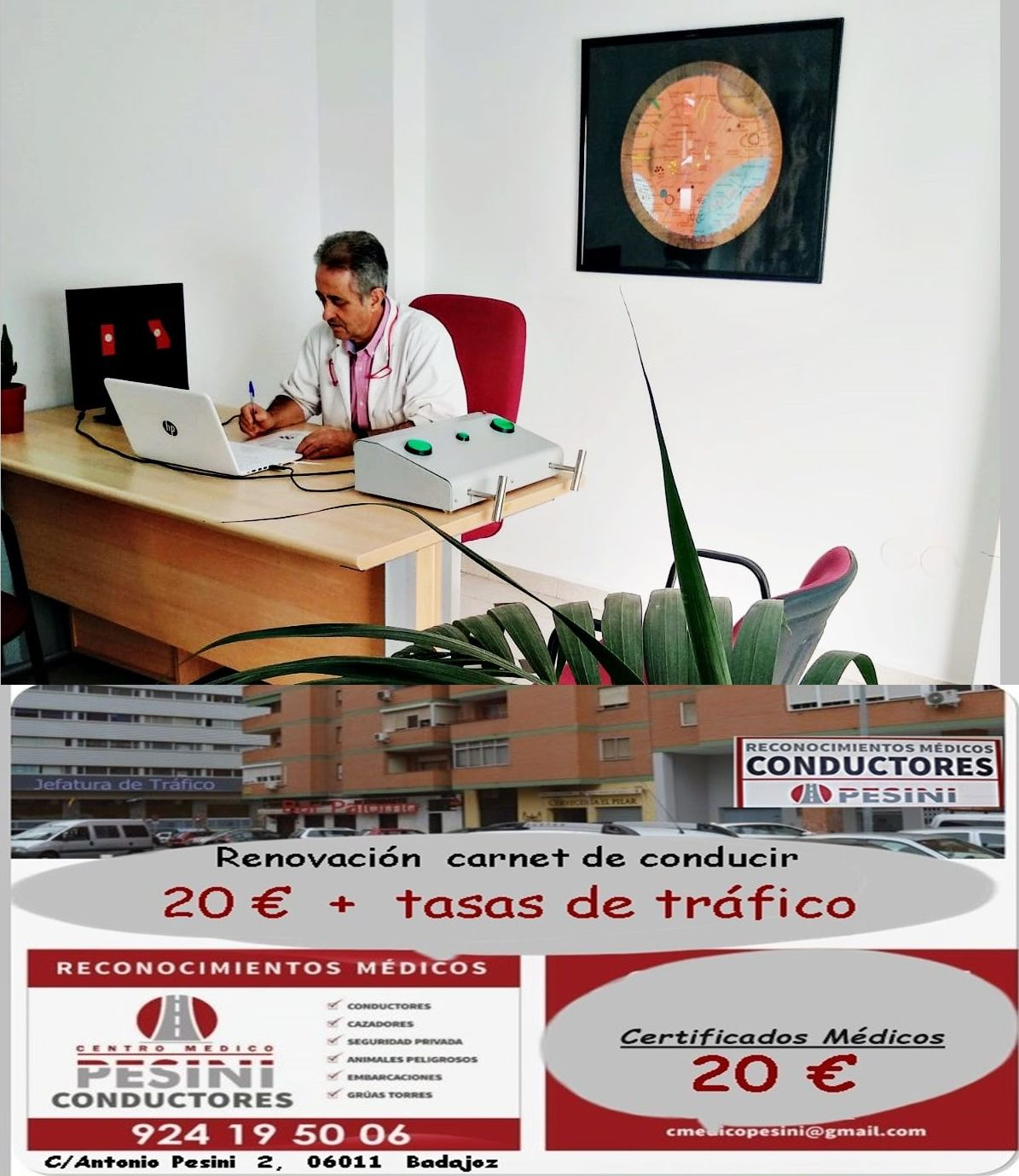 Foto 1 de Centro de reconocimientos médicos en Badajoz | Centro médico Pesini