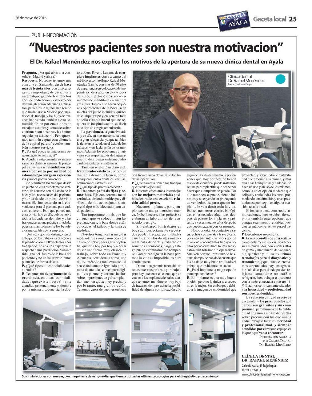 Clínicas dentales estomatólogo en el Barrio de Salamanca, Madrid