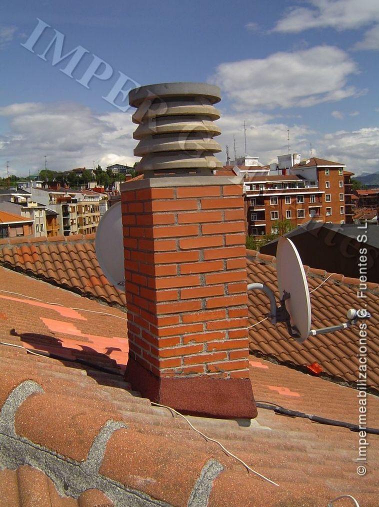 Reparación de chimeneas. Colocación de sombreretes y aspiradores estáticos o giratorios