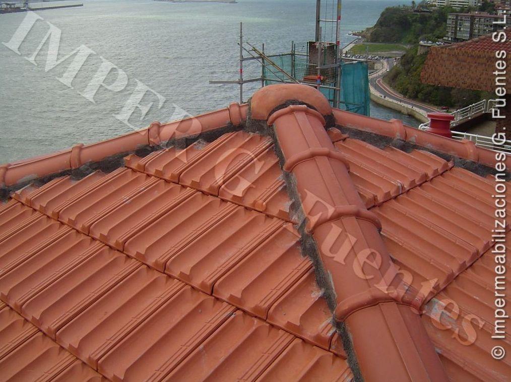 Remates en  cumbreras de tejado