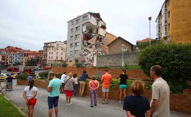 Derrumbe de un edificio en Santander