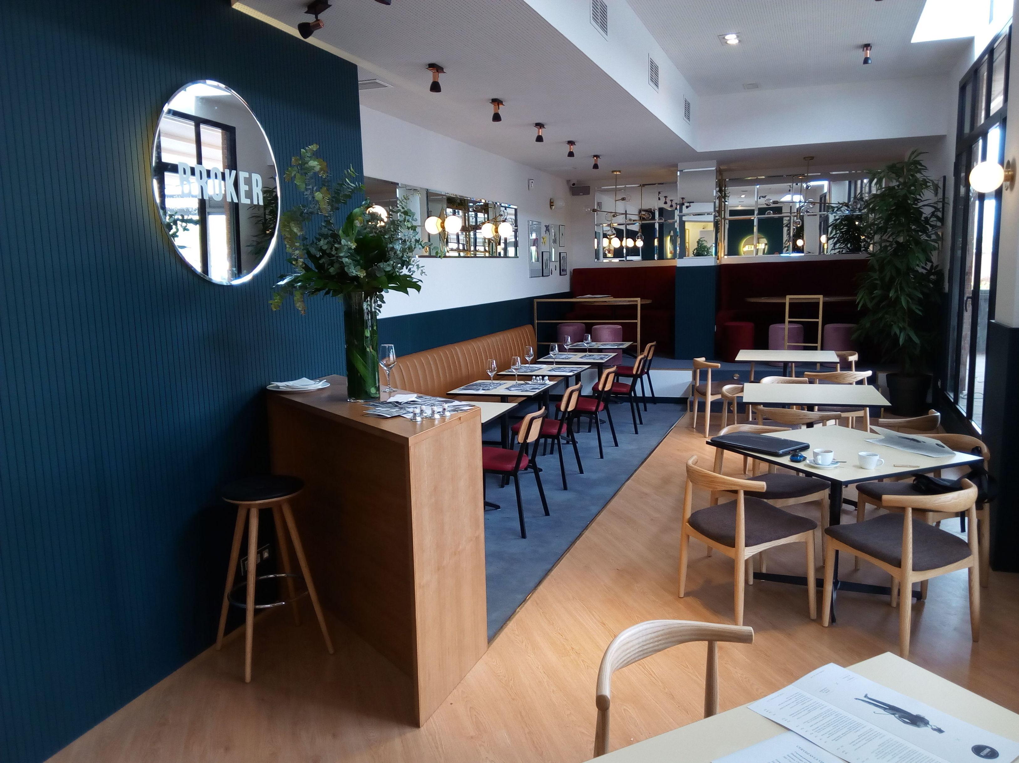 Diseño del interior de un restaurante