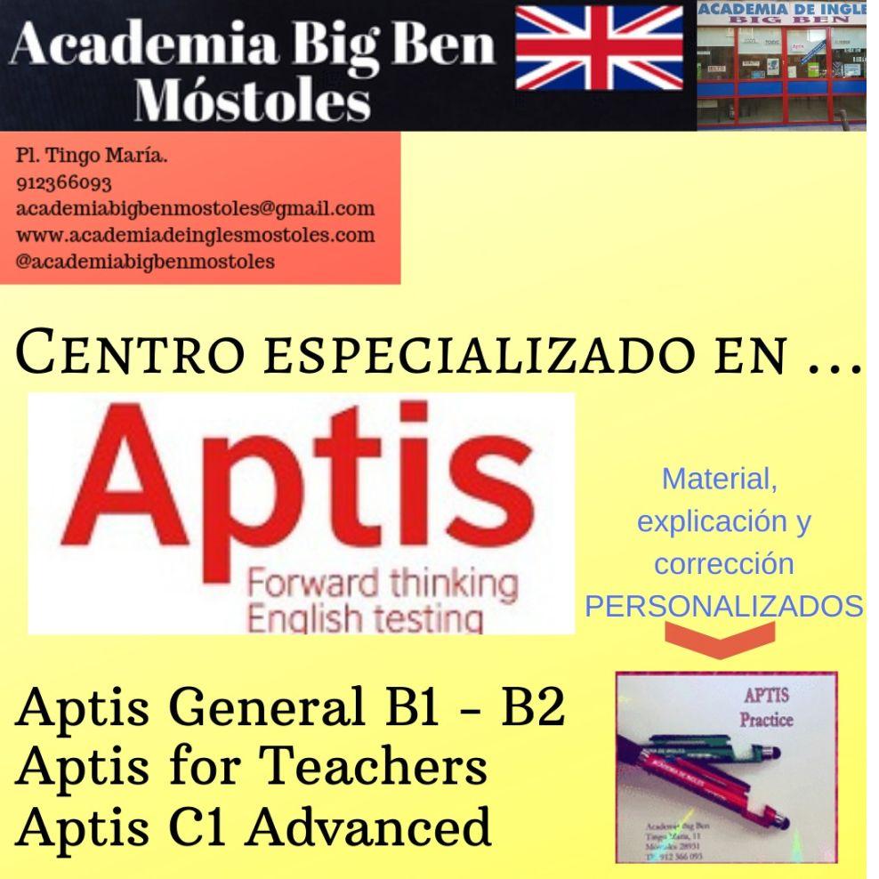 Exámenes Aptis: Servicios de Academia Big Ben