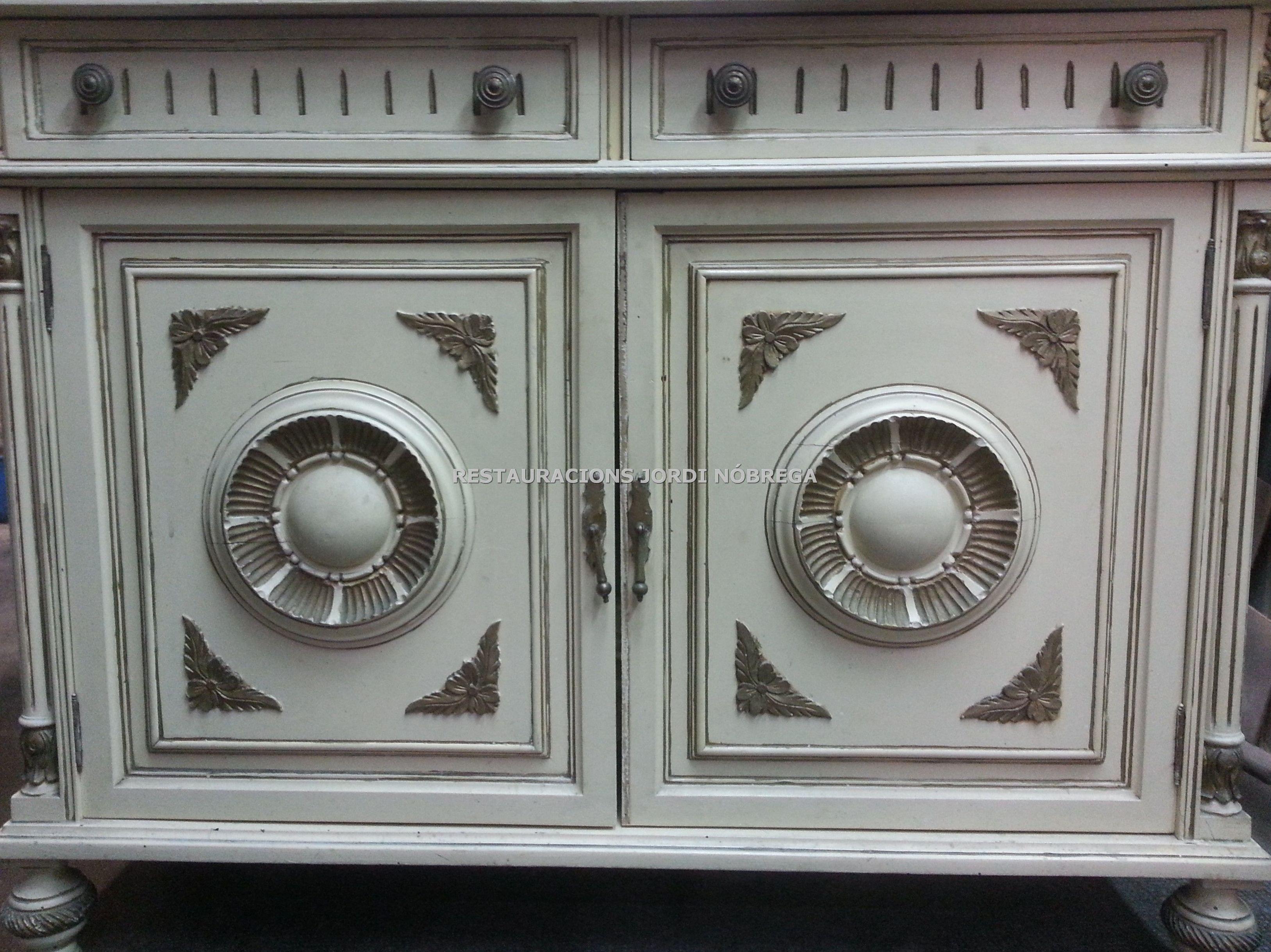 Mueble pintado vintage en el Maresme: Nuestros trabajos de Jordi Nóbrega Restauracions