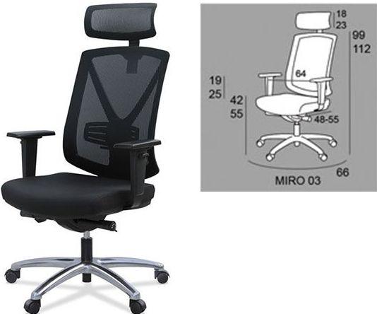 silla ergonómica de tele trabajo mod. Miró-03 a 225€+iva