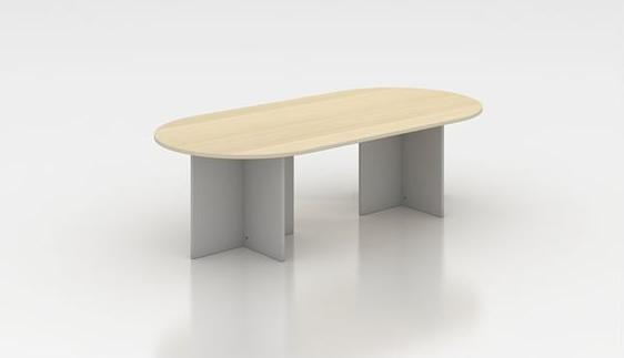 Mesa de reuniones o juntas  ovalada en madera de 240 cm .serie Solber