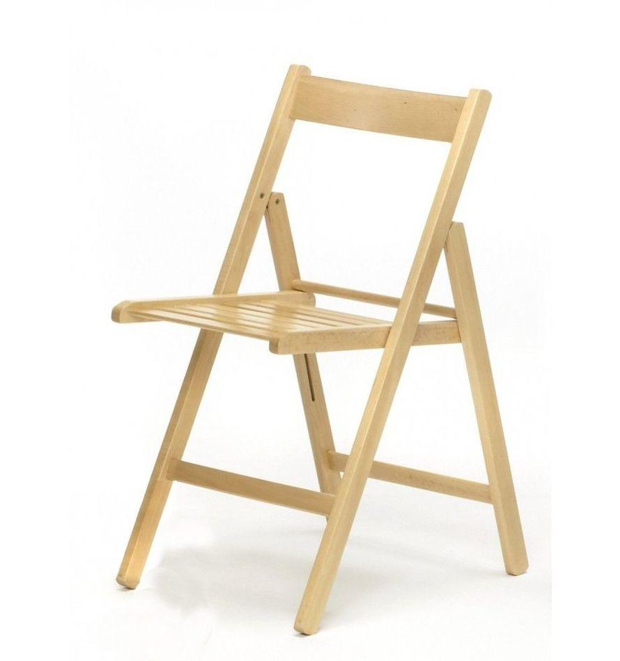 Silla plegable economica en madera modelo basica cat logo for Catalogo de sillas de madera