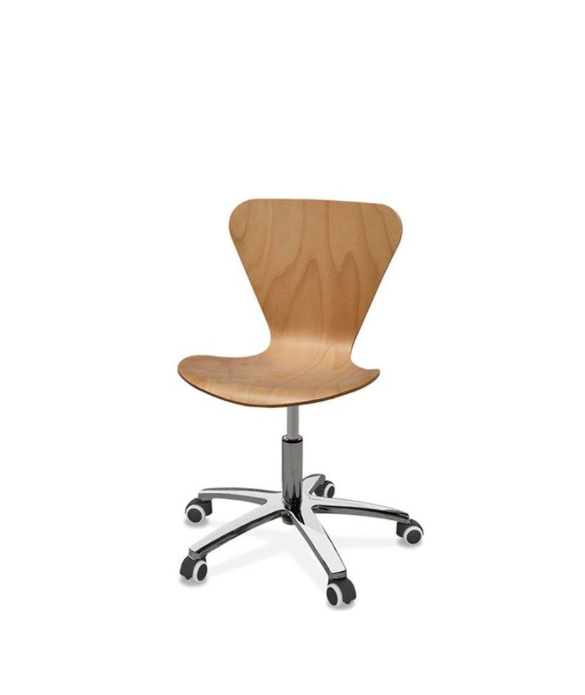 silla danesa en madera de haya natura, LACADA EN BLANCO O