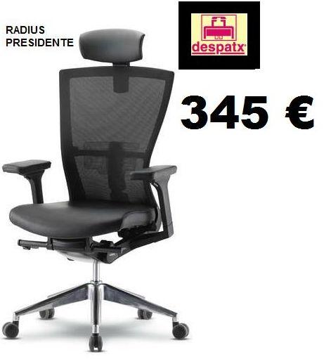 sillón ergonomico con cabezal y mecansimo sincro modelo radius-03