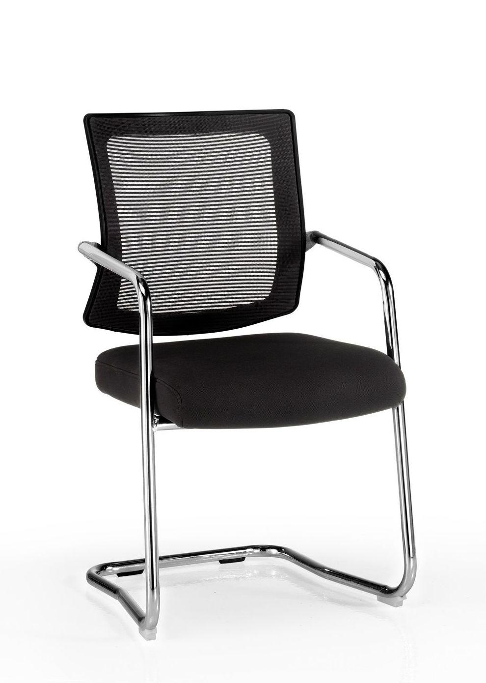 sillón confidente de malla y pie de patín mod. J.R.