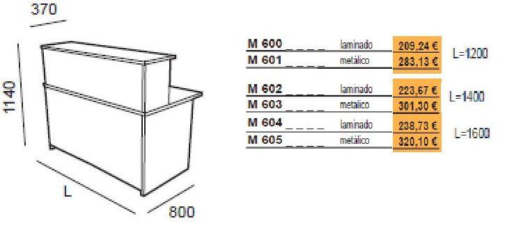 Mostradores de oficina para recepción en madera y metal. Amba-y krono: Catálogo de productos de Despatx