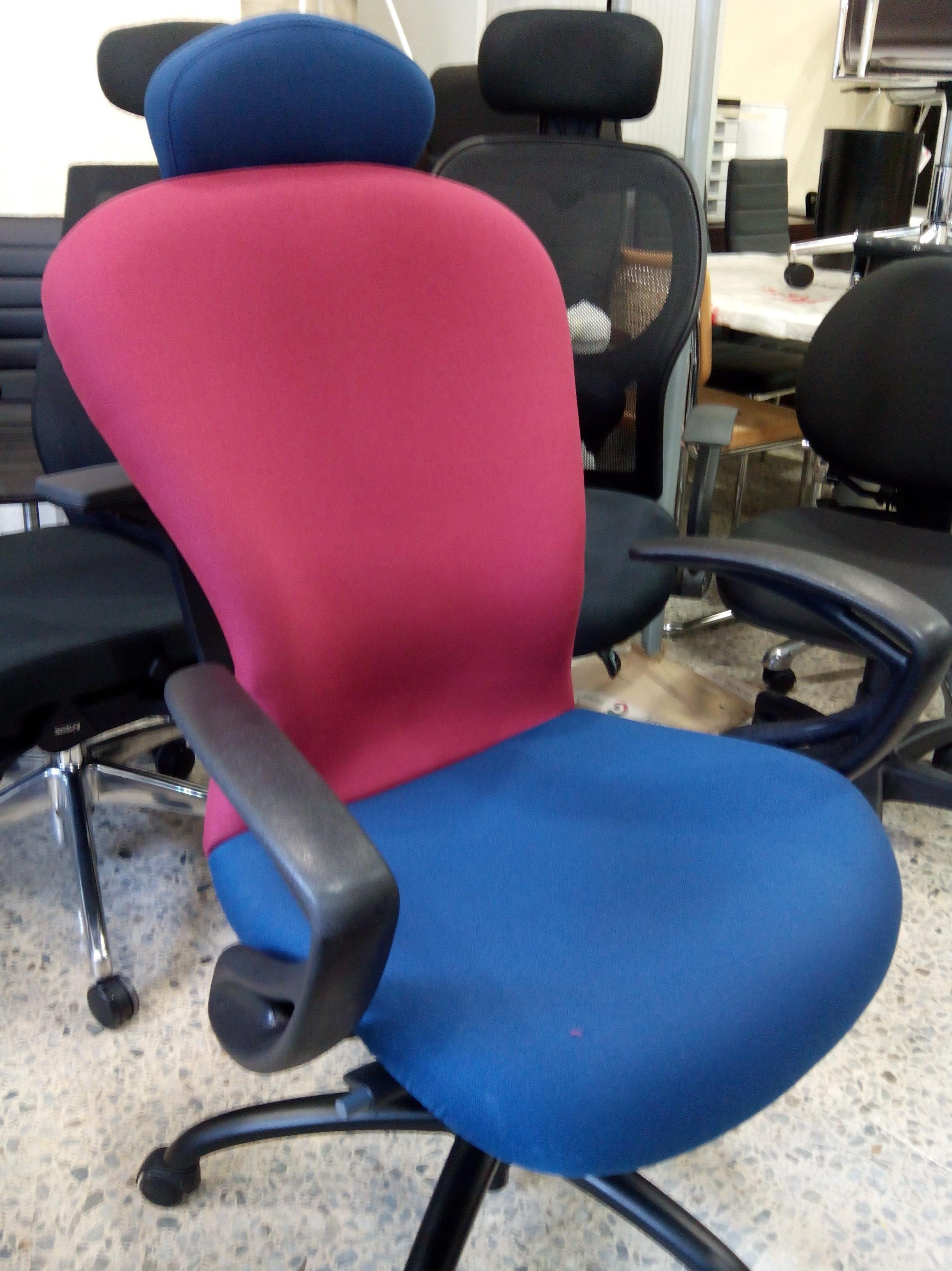 sillón de dirección modelo prisma con cabezal y personalizado