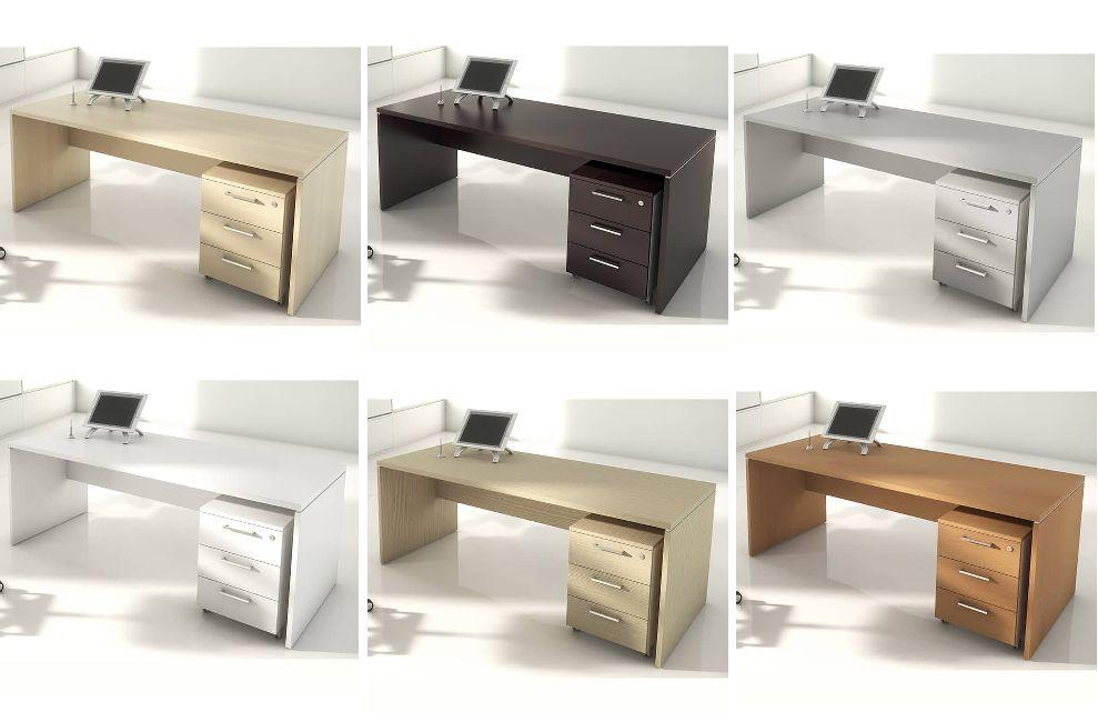 mesas con cajones económicas en diferentes acabados