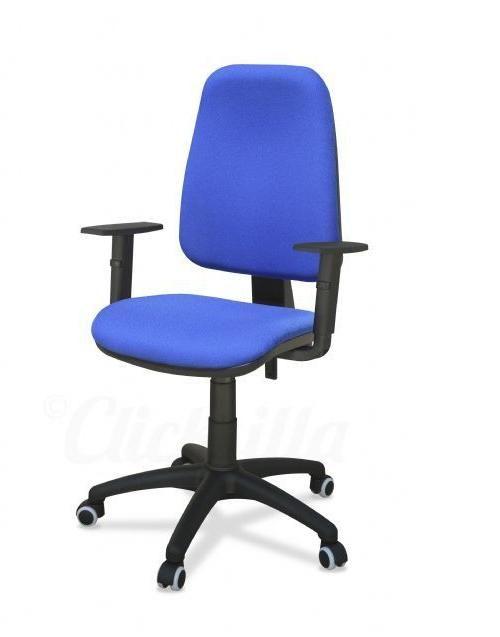 Silla torino en color azul con brazos regulables de altura