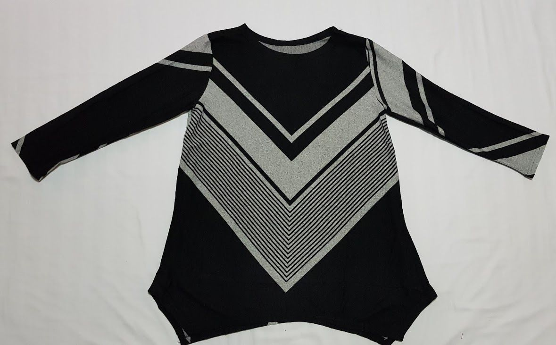 Camiseta estampada asimétrica negra: Productos de Picnic Moda Urban
