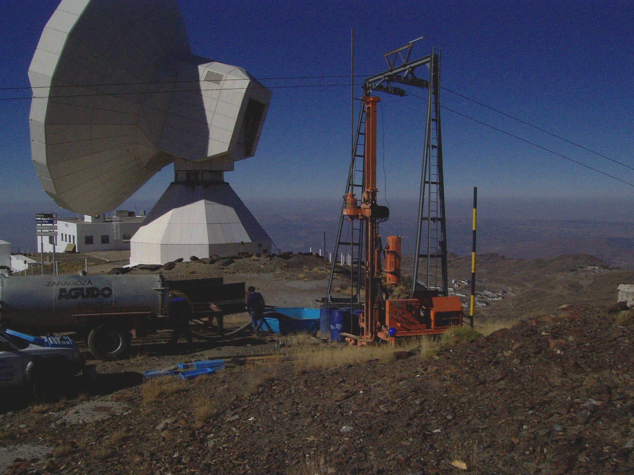 Sondeo para estudio geotécnico en Sierra Nevada (Granada)
