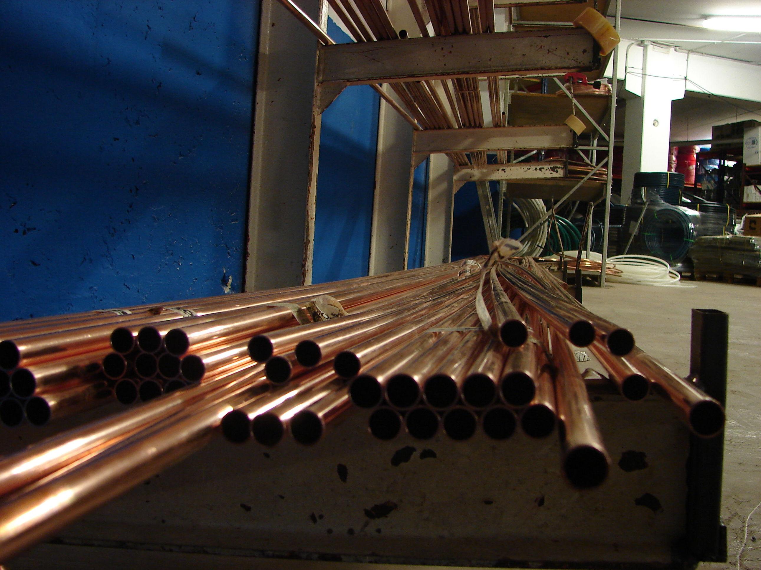 tubería cobre