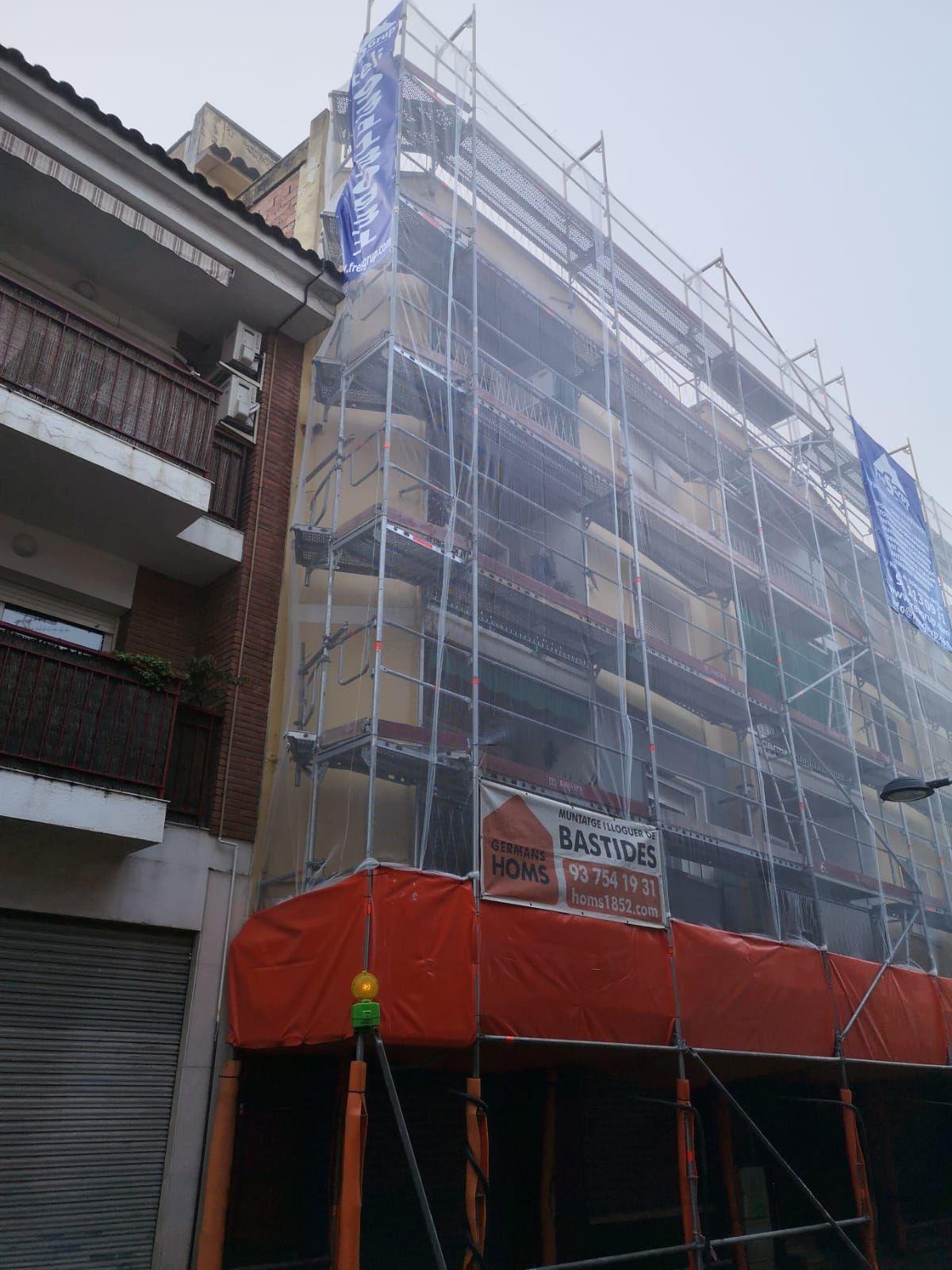 Reforma integral de fachadas en Barcelona