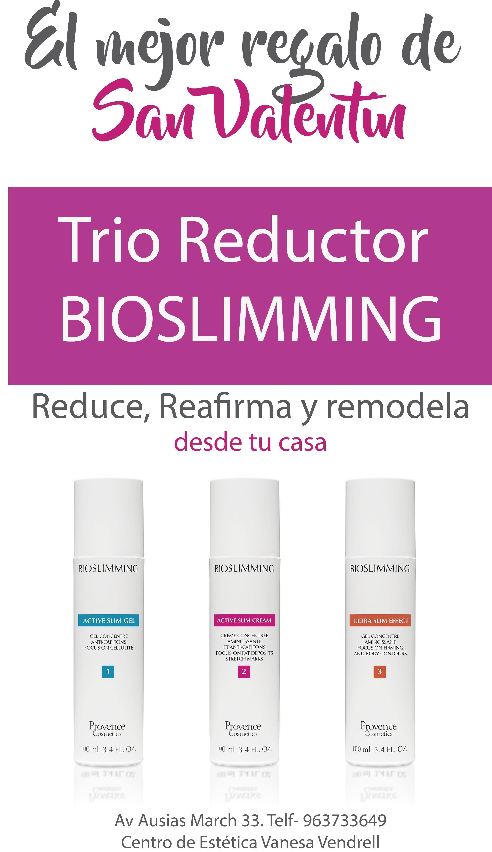Trio Reductor Bioslimming para casa.