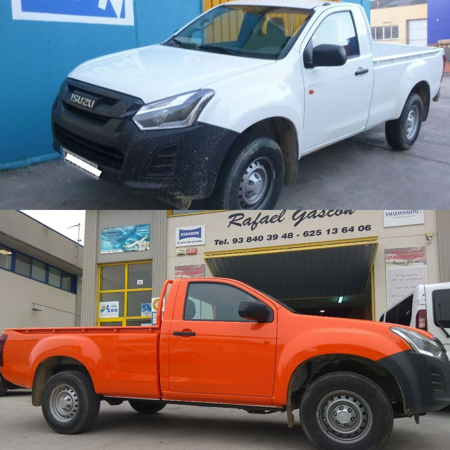 CAMBIO DE COLOR ISUZU PICKUP