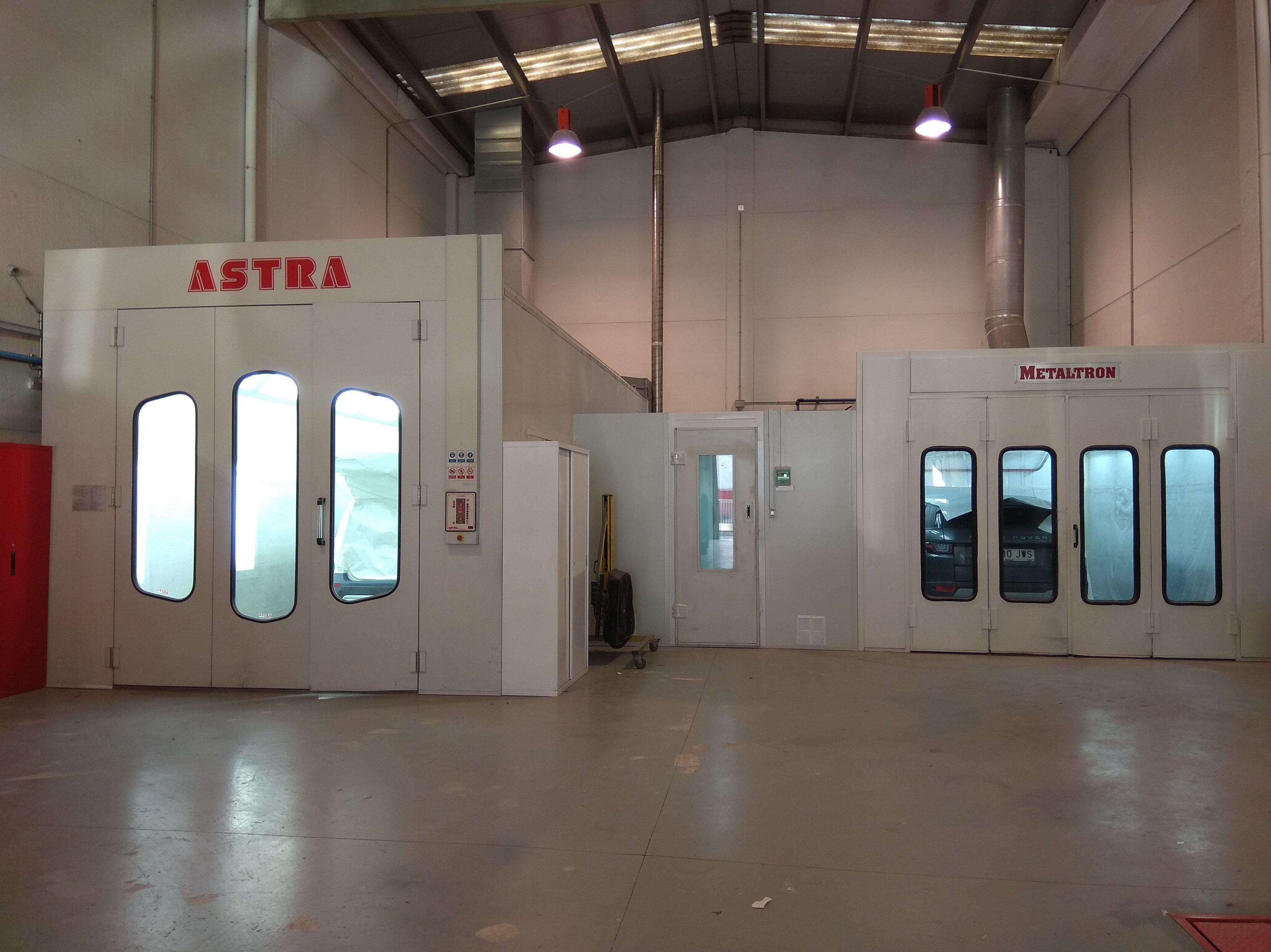 Cabina para vehículo industrial, Box de pintura y cabina medida estandar