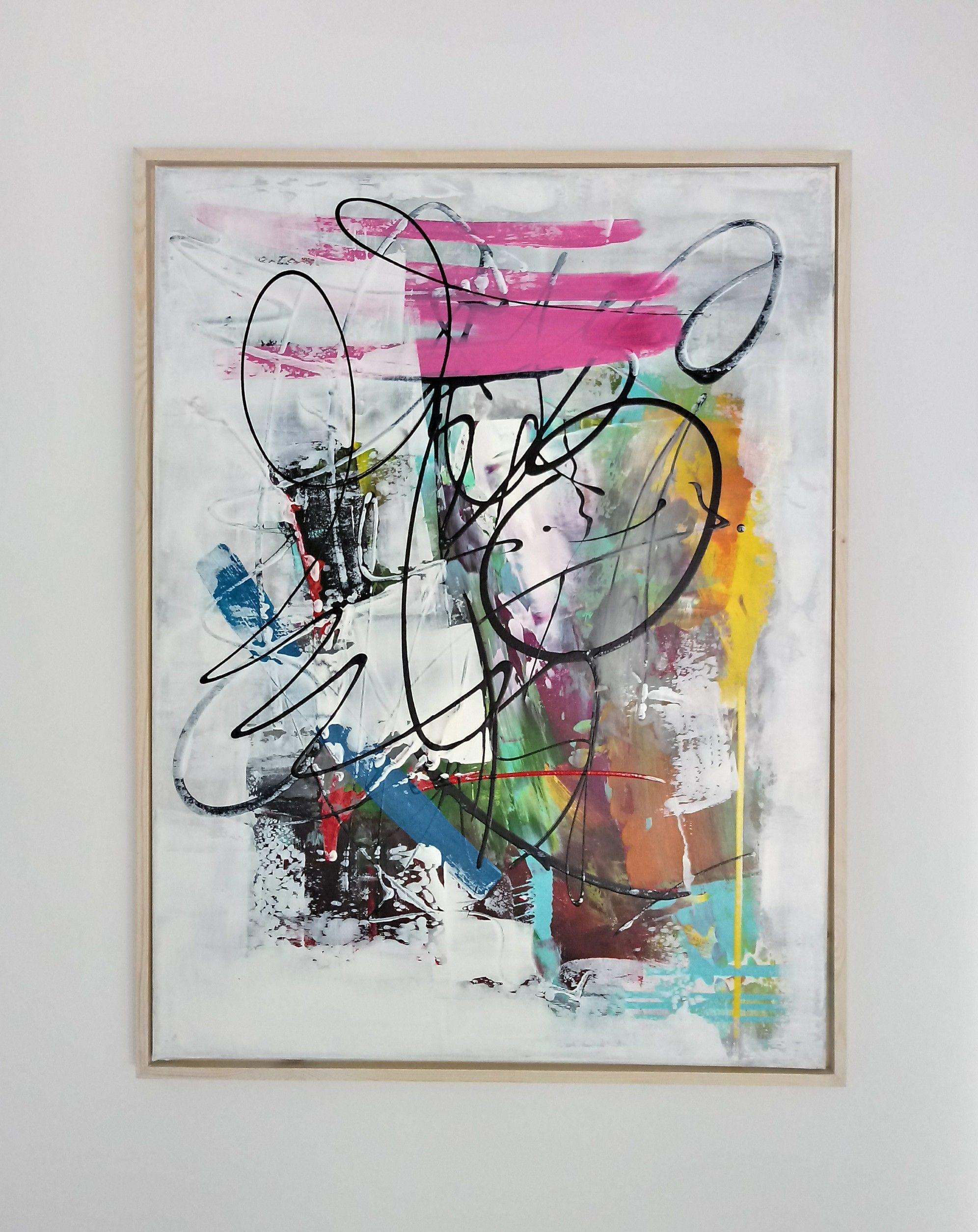 Láminas abstractas enmarcadas: Trabajos de La Útima Pared