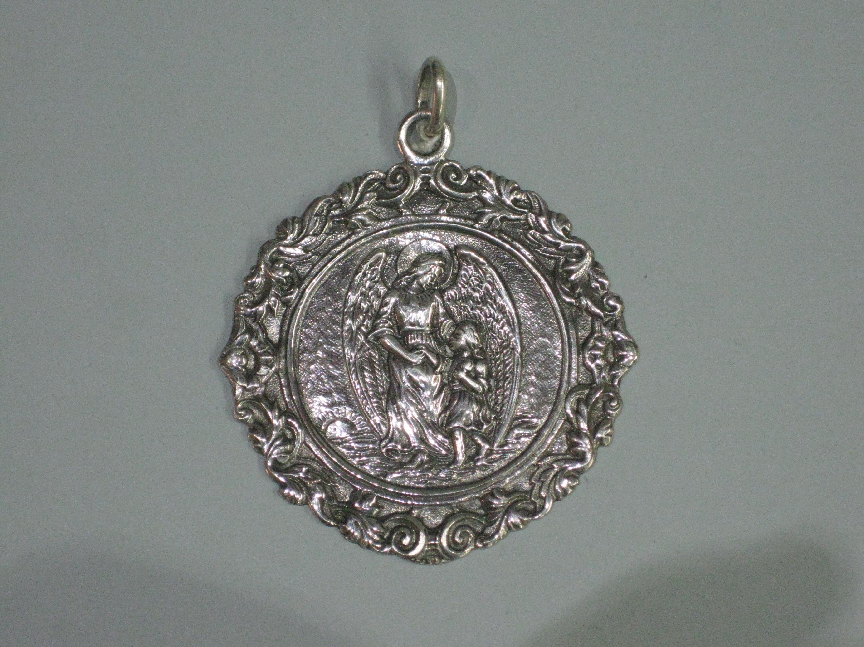 MEDALLA CUNA ANGEL DE LA GUARDA: Catalogo de plata de Vera Orfebre