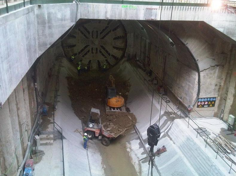 Túnel Atocha-Chamartín en Madrid