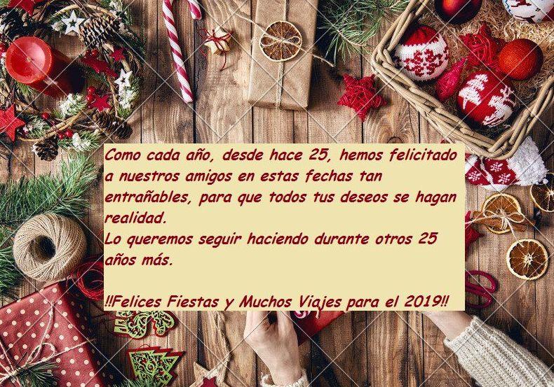 Feliz Navidad y Prospero 2019, vuestras amigas de Viajes Iberplaya