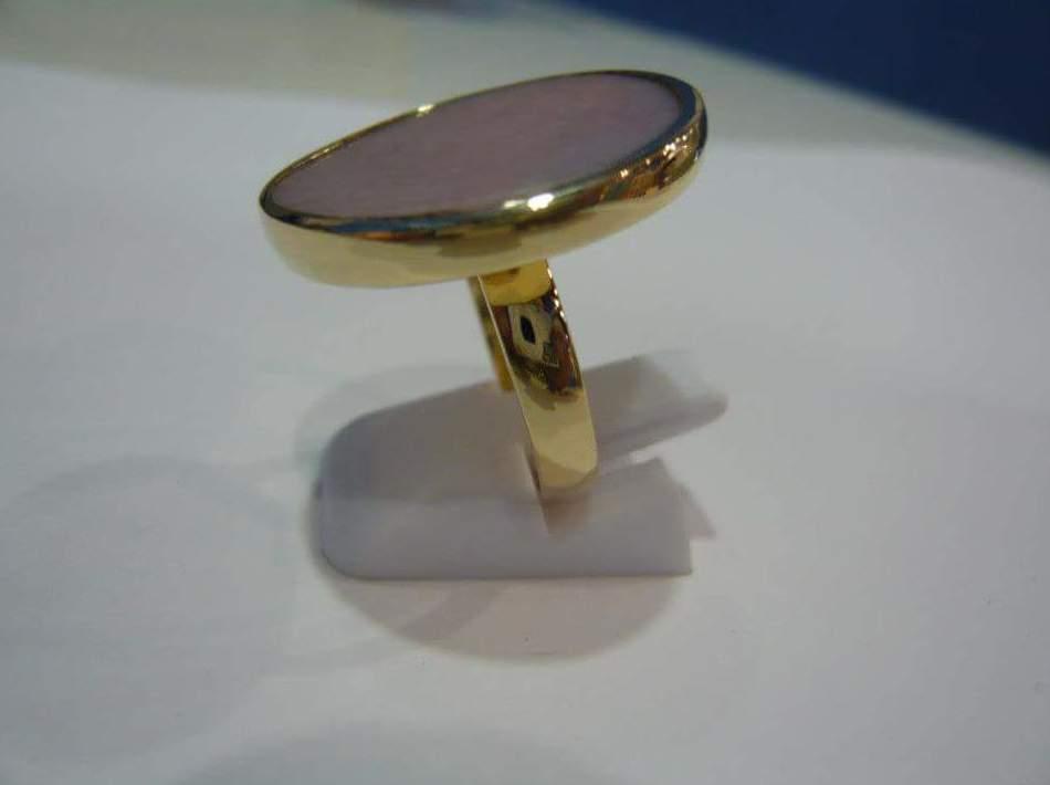 Fabricación de sortija con ópalo rosa