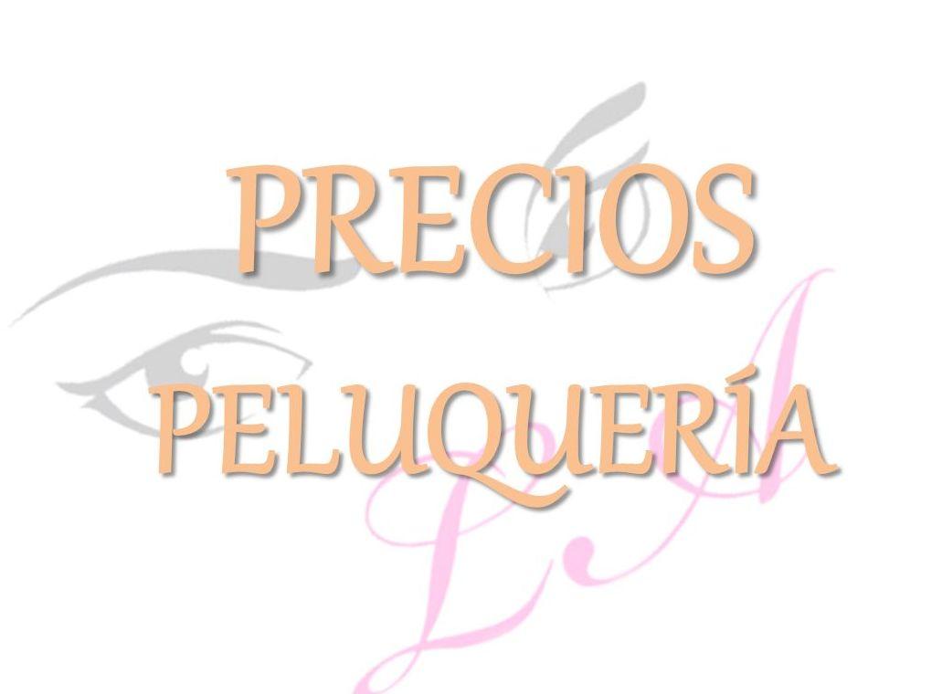 PRECIOS PELUQUERÍA