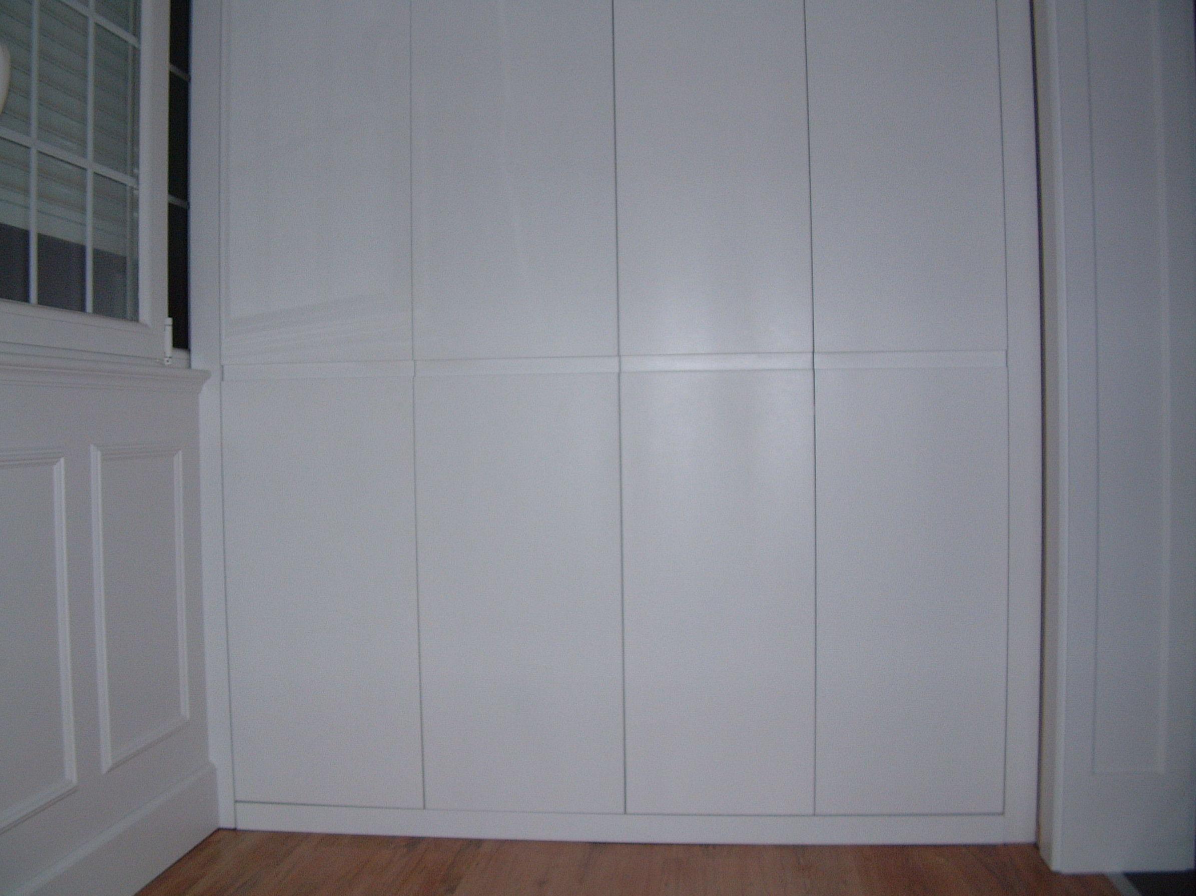 Armarios lacados en blanco
