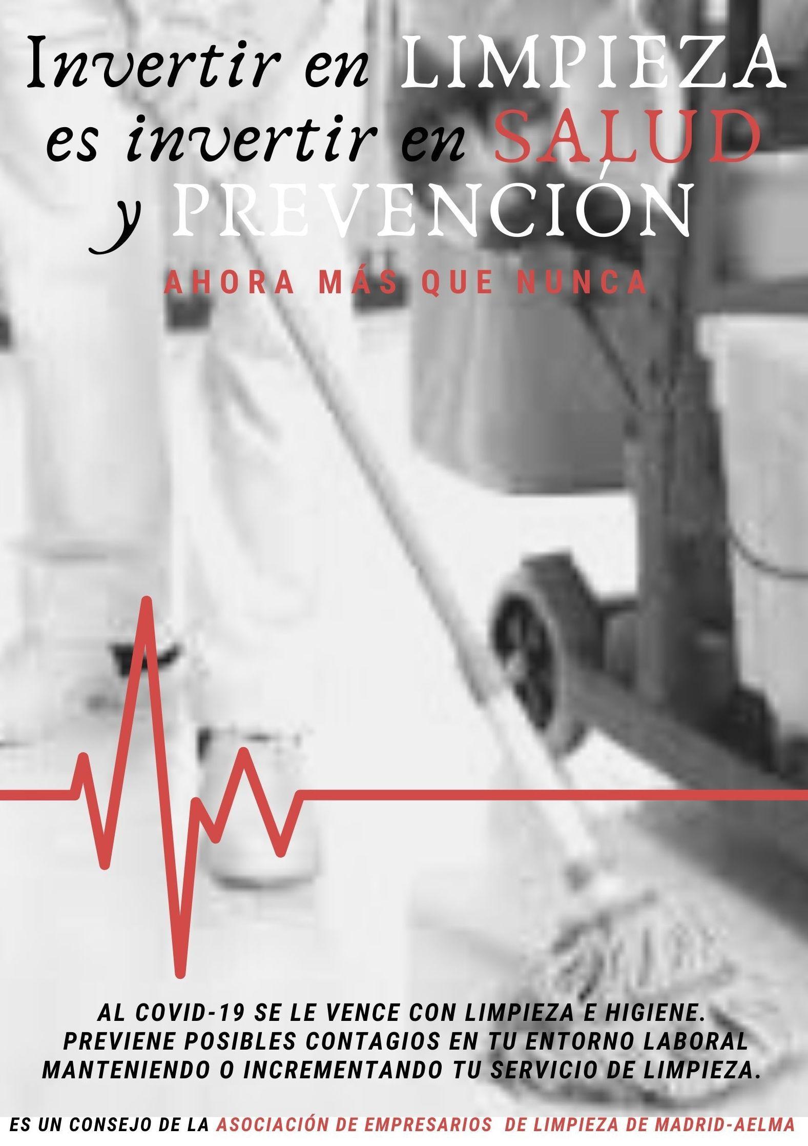 INVERTIR EN LIMPIEZA ES INVERTIR EN SALUD Y PREVENCION