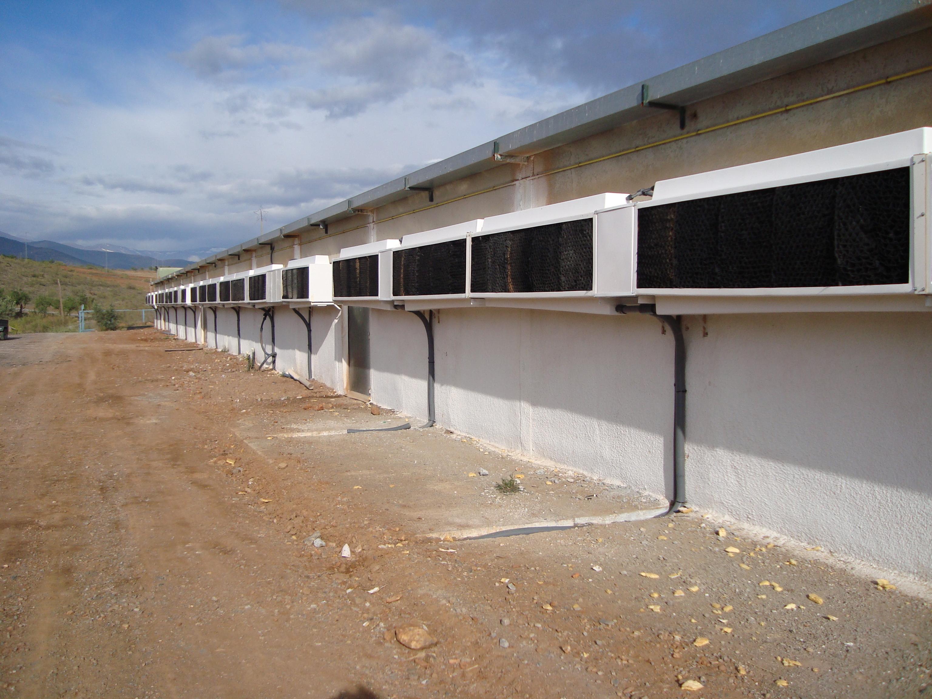 Instalación Refrigeración Evaporativa HUMIBAT