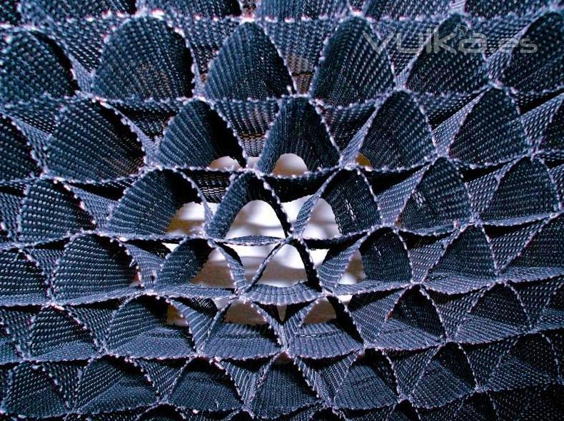 Panal C&V fabricado por Control y Ventilación, S.L., en Polietileno de Alta Densidad, PEAD - Flexible y con Rejilla