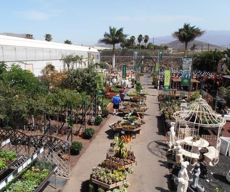 Exterior del centro de jardinería en Tenerife