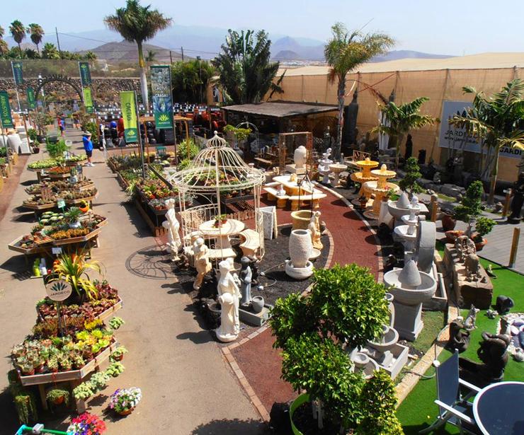 Cactus y suculentas. Macetas de cerámica y terracota para exterior en Tenerife