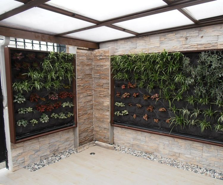 Área de jardines verticales