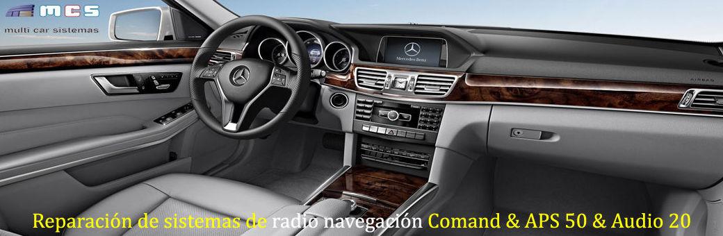 reparación sistemas navegación mercedes benz comand audio 50 aps 20 cd