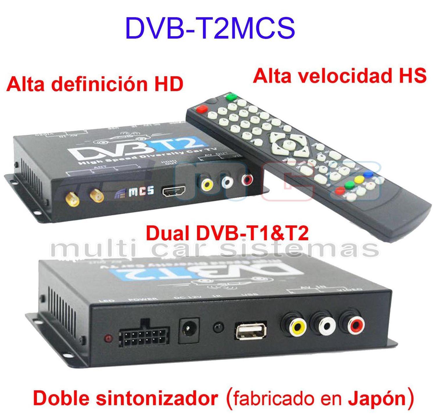 Sintonizador Televisión Digital Terrestre TDT modelo DVB-T2MCS para vehículos